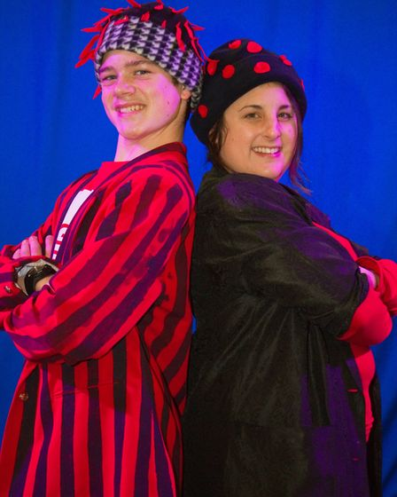Ottery Community Theatre's production of Jack and the half baked beanstalk. Ref sho 04 18TI 6814. Pi