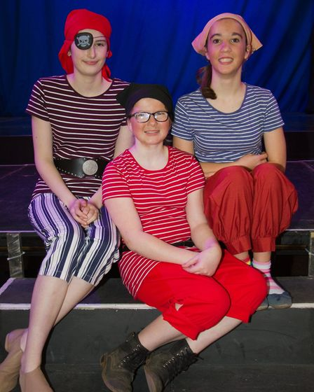 Ottery Community Theatre's production of Jack and the half baked beanstalk. Ref sho 04 18TI 6808. Pi