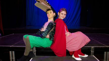 Ottery Community Theatre's production of Jack and the half baked beanstalk. Ref sho 04 18TI 6798. Pi