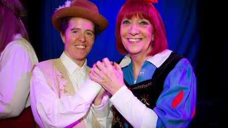 Ottery Community Theatre's production of Jack and the half baked beanstalk. Ref sho 04 18TI 6794. Pi