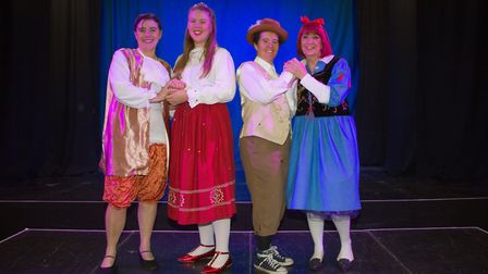 Ottery Community Theatre's production of Jack and the half baked beanstalk. Ref sho 04 18TI 6792. Pi