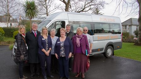 David Wheaton with the new mini bus for Abbeyfield. Ref shs 03 18TI 6461. Picture: Terry Ife