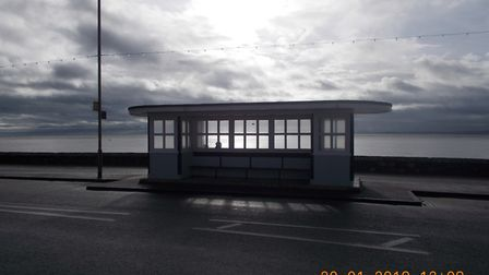 This was the Exmouth Esplanade shelter taken around lunchtime on Saturday 20th January 2018. Picture