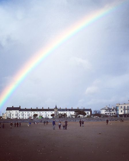 A rainbow captured on our recent holiday. Picture: Emma Broyd