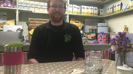 John Hammond with a range of items the Dairy Shop have introduced to support the environment. These