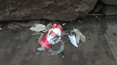 A smashed vodka bottle in Connaught Gardens.
