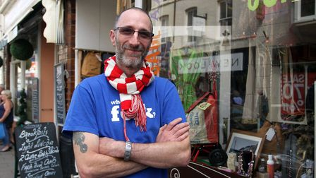 Local shop keeper Marc Kilsbie is standing for Sidmouth Town Council. Photo by Terry Ife. Ref shs 45