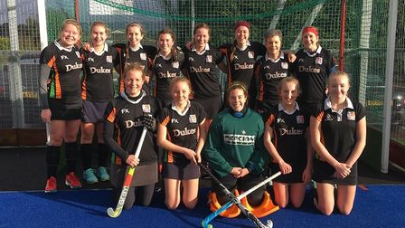 The Sidmouth and Ottery Hockey Club ladies 2nd XI who were 3-1 winners at Winscombe.