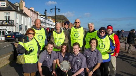 Dukes were the winners of the Pancake Races in Sidmouth organised by Sid Valley Rotary Club. Ref shs