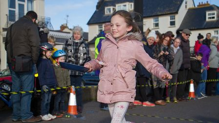 Pancake Races in Sidmouth organised by Sid Valley Rotary Club. Ref shs 07-18TI 7793. Picture: Terry
