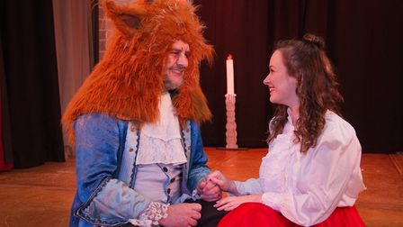 Beauty and the Beast performed by Newton Poppleford panto society. Ref sho 06-18TI 7259. Picture: Te