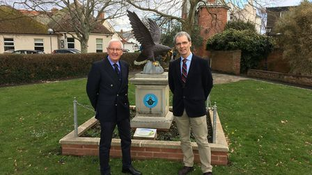 Councillor Jeff Turner and Alastair Watson, who is leading the RAF100 celebrations in Sidmouth