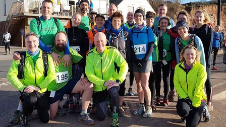Sidmouth Running Club members at the 2018 Four Trigs meeting