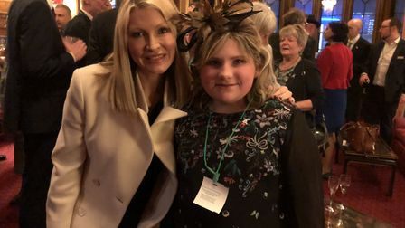 Charlotte Reid with Caprice Bourret at a Westminster event launching an inquiry into brain tumour re