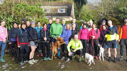 Sidmouth Running Club members before one of the Grizzly Training Runs