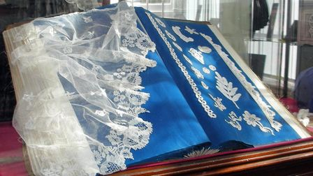 Old Lace that is appearing in one of the displays at Sidmouth Museum.