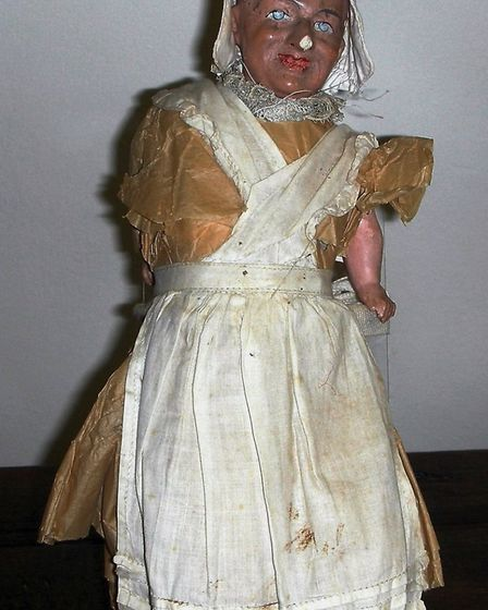A suffrage doll that is appearing in the Sidmouth Museum's suffrage display
