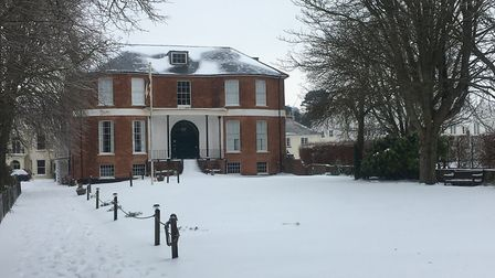 Kennaway in the snow.