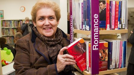 Josefina Gori at the Ottery library drop-in session. Ref sho 09-17TI 7956. Picture: Terry Ife
