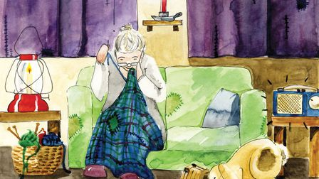 An illustration from Val Howell's latest children book Flora and Flop.