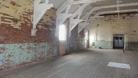 Images showing the interior of the Drill Hall. Sidmouth Herald