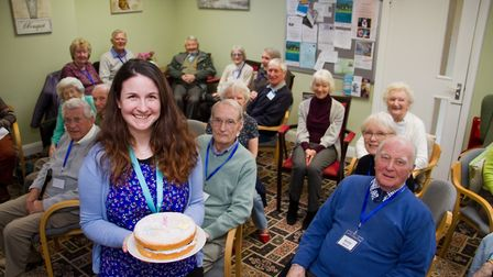 The Memory Cafe celebrate the first year of the Admiral Nurse Heidi Crook. Ref shs 10 18TI 9010. Pic