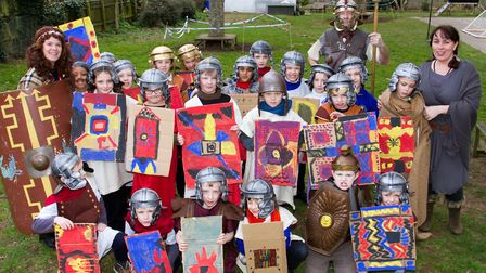 Roman Invasion Day at Littleham school. Ref exe 09 18TI 8412. Picture: Terry Ife