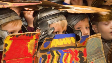Roman Invasion Day at Littleham school. Ref exe 09 18TI 8453. Picture: Terry Ife