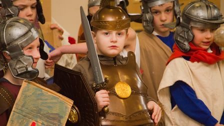 Roman Invasion Day at Littleham school. Ref exe 09 18TI 8451. Picture: Terry Ife