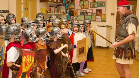 Roman Invasion Day at Littleham school. Ref exe 09 18TI 8438. Picture: Terry Ife