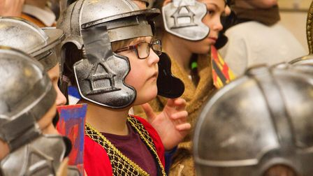 Roman Invasion Day at Littleham school. Ref exe 09 18TI 8437. Picture: Terry Ife