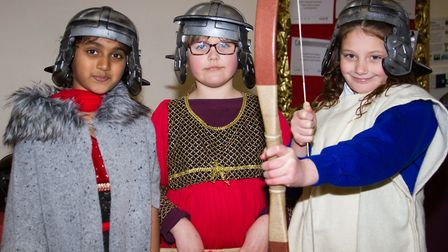 Roman Invasion Day at Littleham school. Ref exe 09 18TI 8428. Picture: Terry Ife
