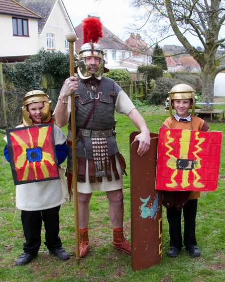 Roman Invasion Day at Littleham school. Ref exe 09 18TI 8424. Picture: Terry Ife