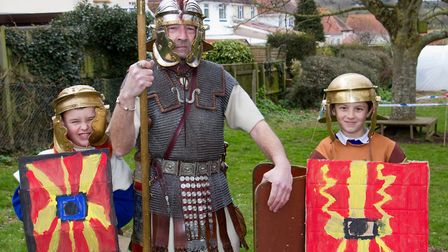 Roman Invasion Day at Littleham school. Ref exe 09 18TI 8420. Picture: Terry Ife