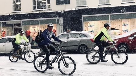 Sidmouth in the snow - pictures by Iain Burns.