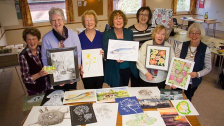 In the Picture group with some of their art. Ref shs 10 18TI 9007. Picture: Terry Ife
