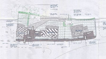 The proposed site plan.