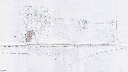 The existing site plan.