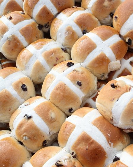 Sidmouth hot cross buns 2013. Picture: Simon Horn