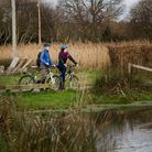 Cycling at Seaton Wetlands. Picture: Matt Wilson