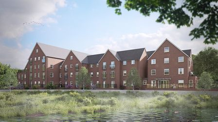 An artist's impression of the Tumbling Weir Court development.