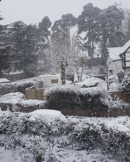 Snowing and sunshine. Picture: David Chaplin