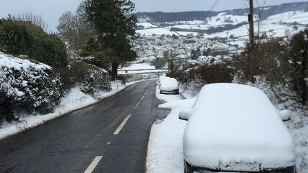 Abandoned cars on Trow Hill. Picture: Simon Horn