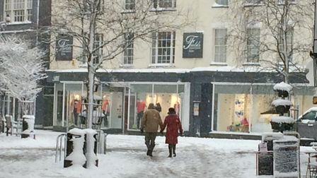A walk in the snow. Picture: Kathy Walsh