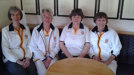 Wendy Limpus, Mary Turner, Anita Mason and skip Zena Johnson who were the winning Sidmouth rink in t