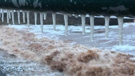 Icicles on the railings at the seafront. Picture: Lynne Thorne