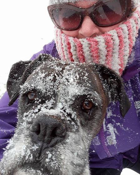 Me and my boxer Zea. Picture: Tracey Hailey