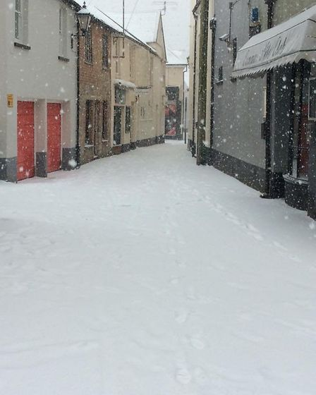 Snow at Dove Lane. Picture: Joanne Gidley