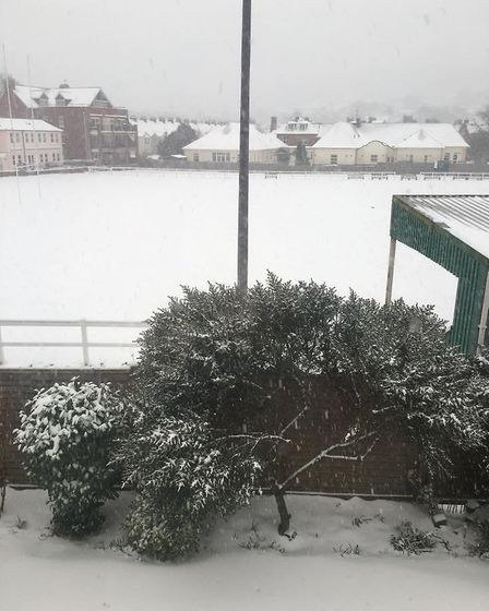 White out at Sidmouth Rugby Club. Picture: Sarah Reis