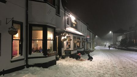 Sarah Sleigt took these impressive shots of a wintery Sidmouth.